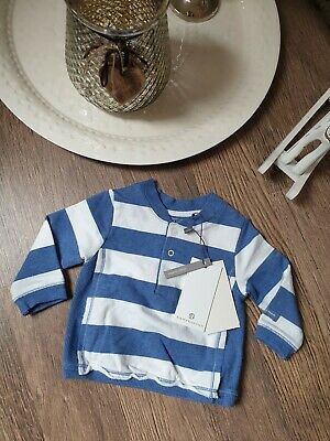 62 74   NEU bellybutton Poloshirt blau// weiß geringelt Gr 68