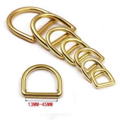 Solid brass D rings buckles for webbing available in different sizes and colours