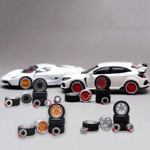 Matchbox,Tomy 1//64 Scale Alloy Wheels Rubber Tires Custom Hot Wheels