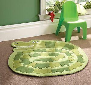 ENFANTS-ENFANT-Tapis-Souple-en-Vert-Crocodile-DESIGN-Tapis-90-x-90-cm-3-039-x-3-039