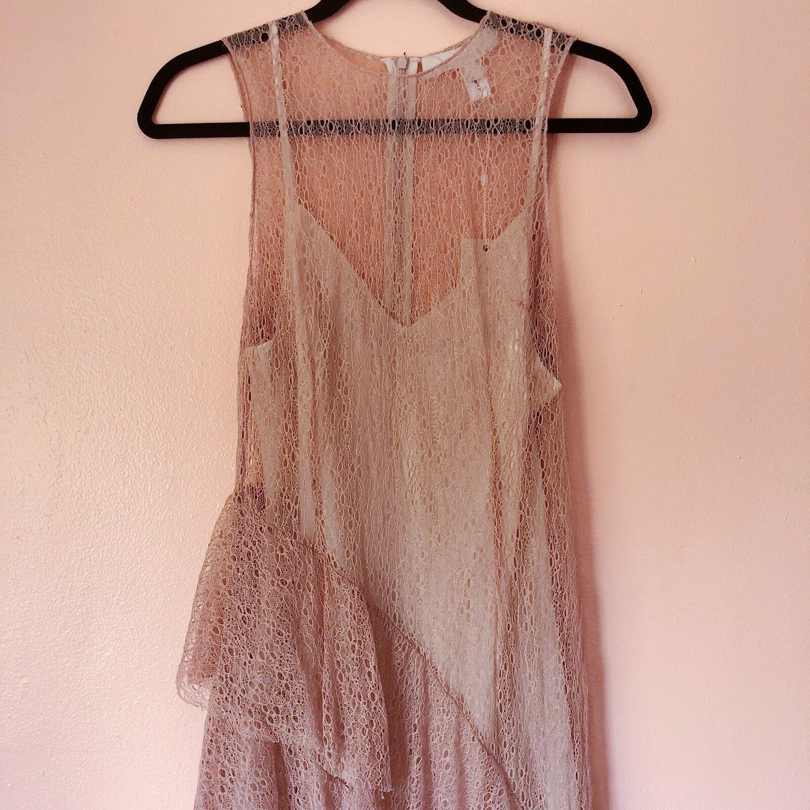 Keepsake Dusty Dusty Dusty pink Lace Midi Dress NWT df63cb