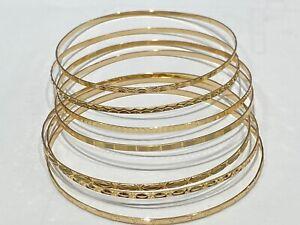 7-Bracelets-Jonc-Or-jaune-18-carats-semainier