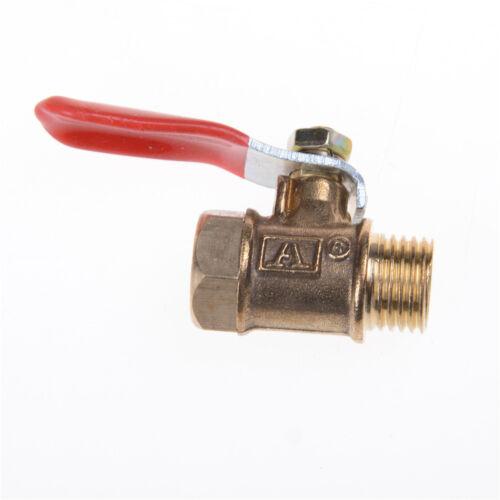 1//4/'/'M//F Full port en ligne de gaz d/'air d/'eau de ligne robinet d/'arrêt à billeI