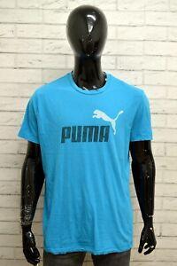 Maglia-Uomo-PUMA-Polo-Maglietta-Taglia-Size-XL-Manica-Corta-Shirt-Man-Cotone-Blu