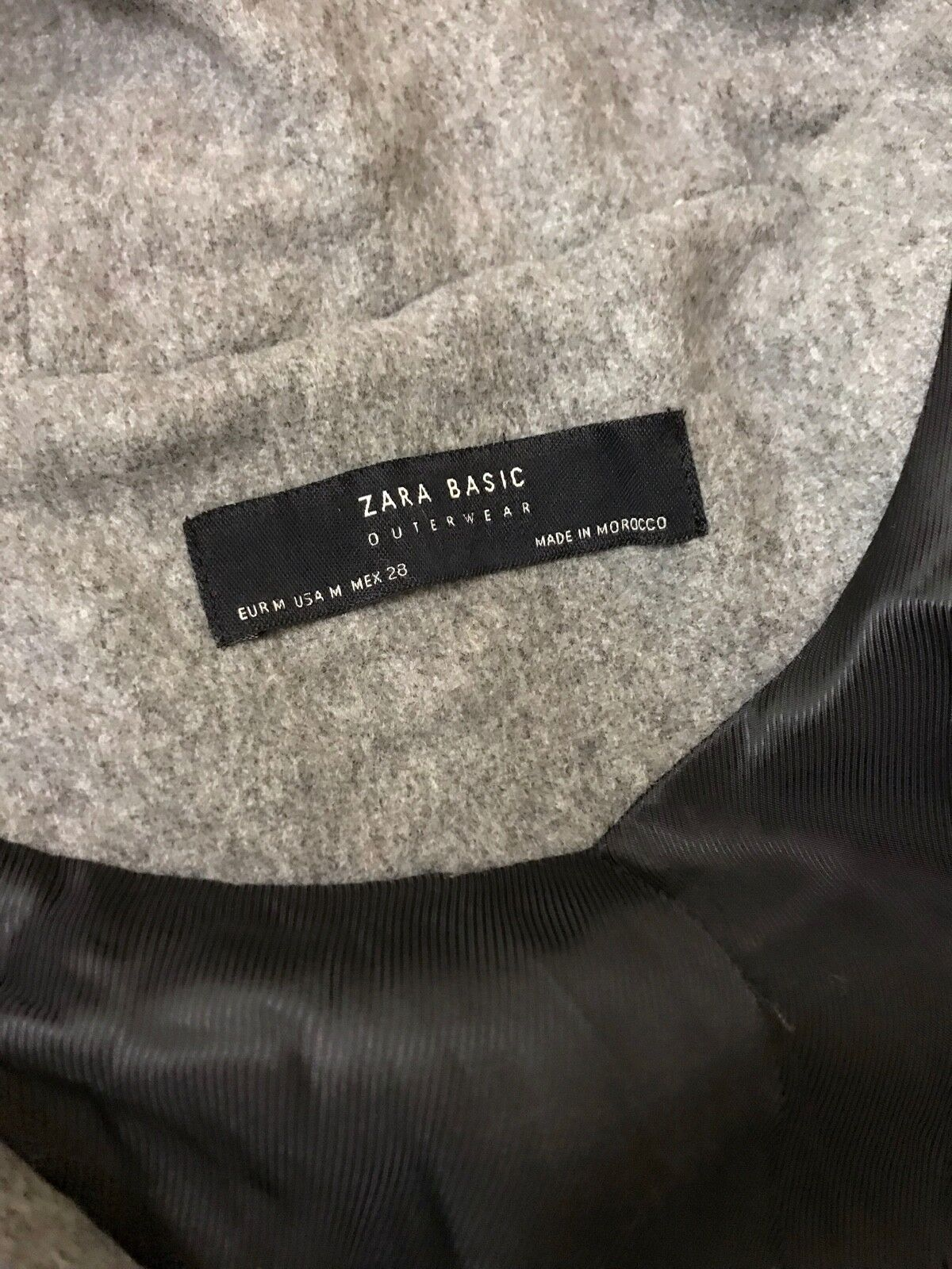 NEW  ZARA ZARA ZARA Grey Duffle Coat With Faux Fur Hood, size S and M 9e5d8d