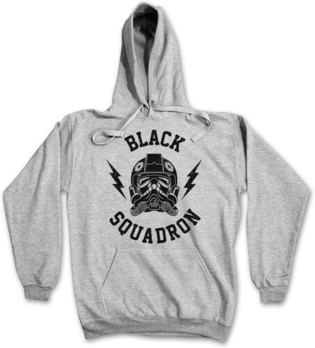 BLACK SQUADRON Hooded Sweat-con cappuccio Pullover Hoodie-STAR TIE FIGHTER Wars 3xl