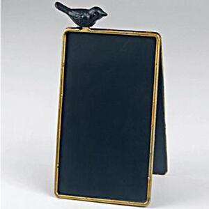 Détails sur Cadre A Tableau Noir/Ardoise/Tableau Mémo avec Perché Oiseau  ZOI4635