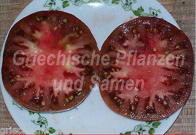 🔥 🍅 BLACK KRIM alte Sorte Russland Schwarze Fleisch-Tomate 10 frische Samen