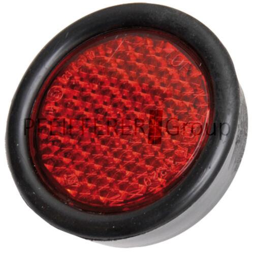 Los catadióptricos aproximadamente 65 mm rojo con protección de goma versión m5x15 mm