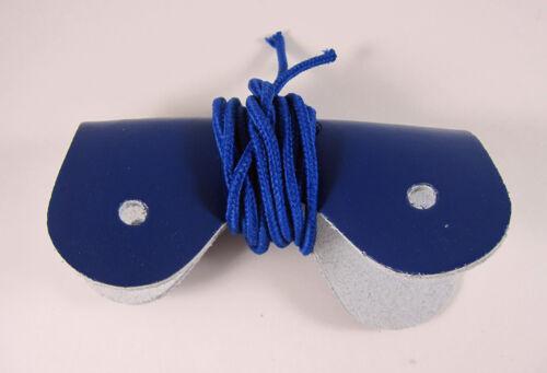 Nash Hockey Goalie Toe Bridge with Hardware 2-Pack Navy Royal Blue Brown Leather
