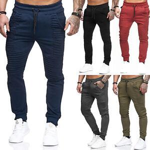 Mens-Skinny-Bottoms-Harem-Pants-Jogger-Tracksuit-Gym-Trousers-Pleated-Sweatpants
