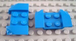 LEGO Lot of 2 Dark Bluish Gray 2x4 Flared End Mudguard Pieces