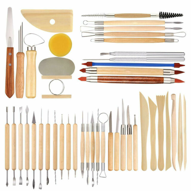 Set of 3 Double-Ended Ceramic Tools Xiem Clay Wire Pottery Sculpting  Tool Set