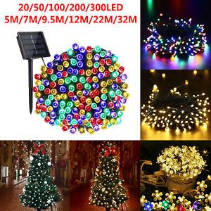 72ft-200-LED-lumiere-guirlande-lumineuse-etanche-exterieur-solaire-decor-de-Noel