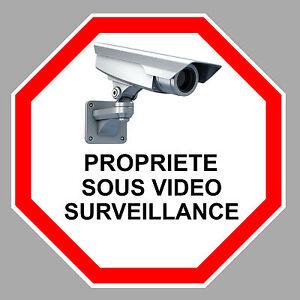 PROPRIETE-VIDEO-SURVEILLANCE-CAMERA-PROTECTION-9cm-AUTOCOLLANT-STICKER-VA095