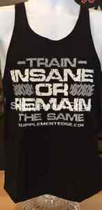 Men's Bodybuilding Stringer *Train Insane or Remain The Same* FREE SHIPPING