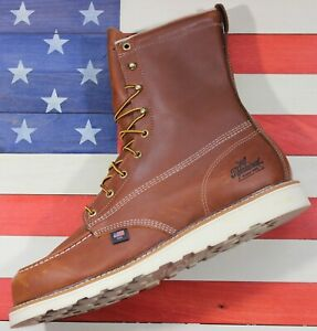 Thorogood-8-034-American-Heritage-Soft-Toe-MOC-Work-Boots-814-4201-FACT2ND-14-D
