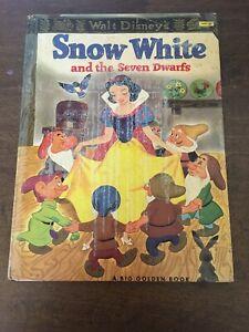 Walt Disney's Snow White A Big Golden Book 1952 Hardback Vintage