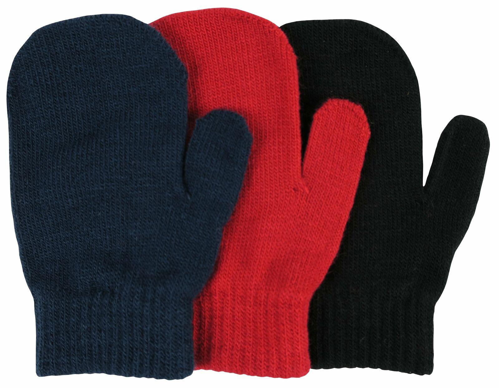 NIce Caps Boys Girls Magic Stretch Gloves 3 Pair Pack Assortment