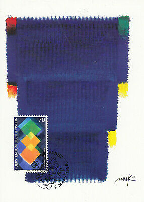 Europa Liechtenstein Aktiv Liechtenstein Fdc Ersttagsbrief Karte 1998 Zeitgenössische Kunst Mi.1169 Freigabepreis