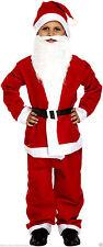 Kids Children's Santa Boy Christmas Costume 5 Pcs Suit Xmas Dress Fancy Up 10-12