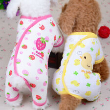 Embroidery Cat Dog Pajamas Soft Cotton Small Pet Clothes Apparel Puppy Jumpsuit