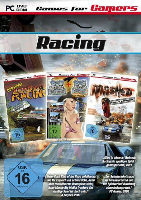 Racing Game Pack NEU / OVP - PC WIN 7 8 Rennen Redneck Big Mutha Mashed