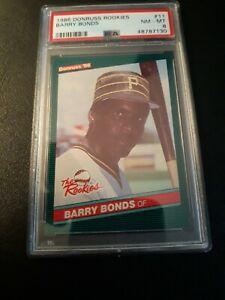 1986 Donruss Rookies 11 Barry Bonds PSA 8 NM-MTRC Rookie PIRATES GIANTS 🔥⚾️🔥⚾