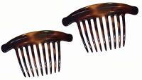 Parcelona French Lip Interlocking Large Comb Cellulose Shell Side Hair Combs
