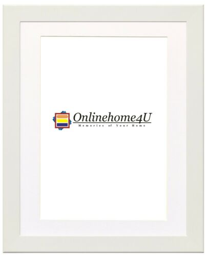 Multi Colors Photo Frames With White Mount Wooden Effect Pictures Posters Frames