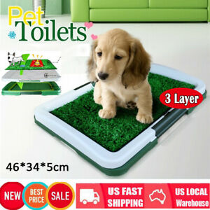 Large-Pee-Pads-Dog-Toilet-Potty-For-Puppy-Pet-Training-Synthetic-Grass-Mat-Tray