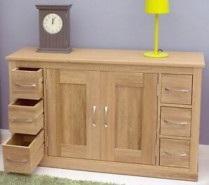 image is loading mobel solid oak furniture six drawer dining room