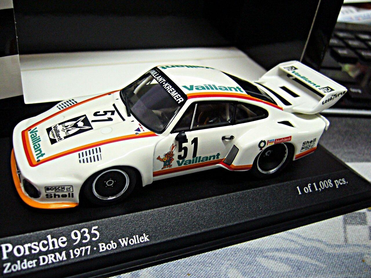 Porsche  935 turbo DRM 1977 Kremer vaillant wollek zolder  51 Minichamps 1 43  Nouvelle liste