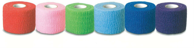 """Full CASE 36 ROLLS 2"""" COBAN Type Assorted COLORS BANDAGES"""