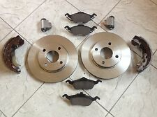 FORD FOCUS MK 1  1.41.6 1.8  98-04 TWO FRONT BRAKE DISCS BRAKE PADS /& REAR SHOES