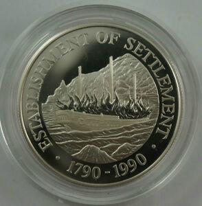 PITCAIRN-ISLANDS-1-1990-Silver-Proof-Establishment-of-Settlement