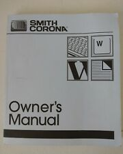 Smith Corona Pwp Personal Word Processor Computer Owner Manual Pwp 4000 Ds