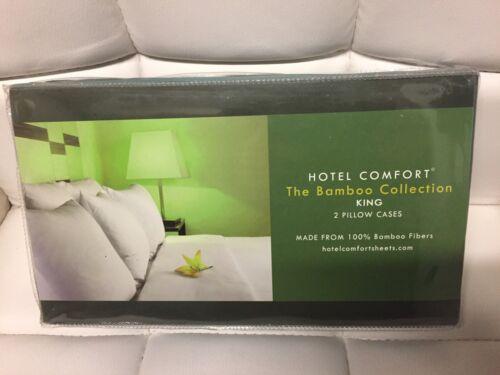 Set of 2 100/% bamboo fibers green pillow cases
