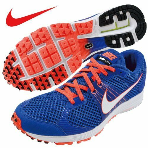 Men's Nike Lunarspeed Lite+ 2 Size 6 (555396-418) Hyper bluee White-Total Crimson