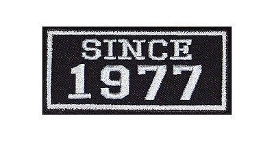 Seit 1964 Biker Patches Aufnäher Jahr Since MC Motorrad Rocker Kutte Club MFG BC