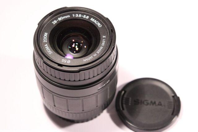 Sigma ZOOM 28-80mm F/3.5-5.6 Macro Lens