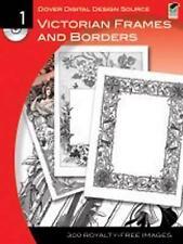 Dover Digital Design Source: Victorian Frames and Borders No. 1,,New Book mon000