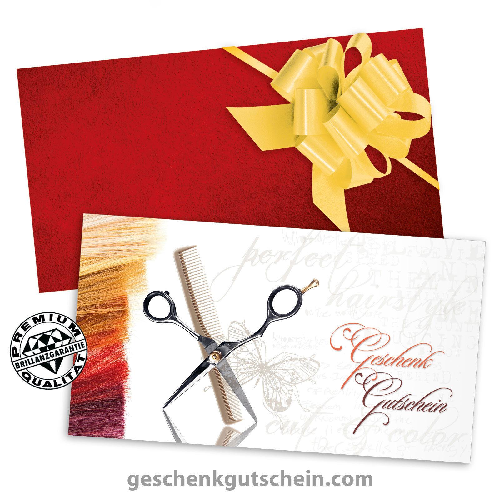 Gutscheinkarten mit KuGrüns und Schleifen für Friseure Haarstylisten K1403