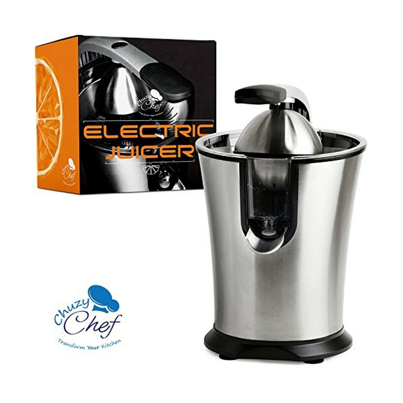 Stainless Steel Electric Citrus Juicer  Compact Lemon, Lime or orange Squeeze...