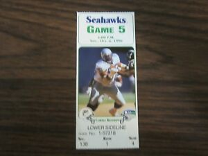 Miami-Dolphins-Ticket-Stub-Fron-Oct-6-1996-VS-Seattle-Seahawks-8-3-96-Kennedy