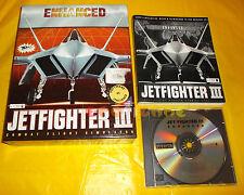 JETFIGHTER III 3 Edizione ENHANCED Pc Vers Italiana Big Box Jet Fighter USATO