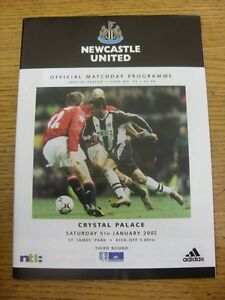 05-01-2002-Newcastle-United-v-Crystal-Palace-FA-Cup-Footy-Progs-Bobfrankande