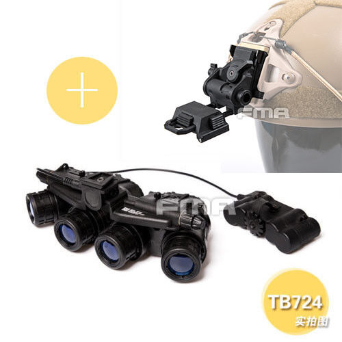 FMA Tactical Airsoft GPMVG 18 DUMMY NVG Model with Plastic L4G24 Helmet Mount