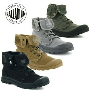 Palladium Mens Pallabrouse Baggy Combat Military Desert Canvas Ankle Boots