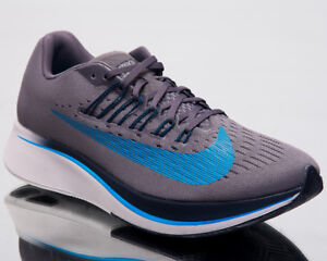 9e597ae5e5775 Nike Zoom Fly Men Running Shoes Gunsmoke Blue Hero Obsidian Sneakers ...